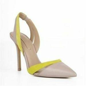 6cb23743d9a6 BCBGMaxAzria Shoes - NWOT BCBG MaxAzria Clare nude   chartreuse pump